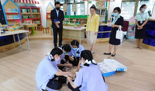 โครงการทดสอบนำร่องการลงพื้นที่ประเมิน (Site Visit) ด้วยเทคโนโลยี Mobile Platform  ณ โรงเรียนเซนต์โยเซฟ บางนา