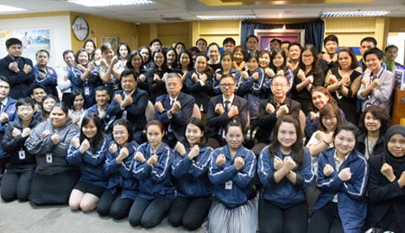 นายนาวิน วิยาภรณ์ รักษาการผู้อำนวยการ ประกาศเจตจำนงในการบริหารงาน เมื่อวันที่ 7 กุมภาพันธ์ 2560